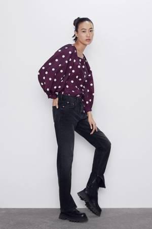 Bluzka Zara Taffeta Blouse