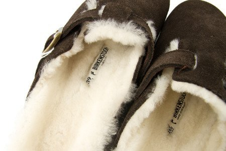 Pantofle Birkenstock Boston Fur